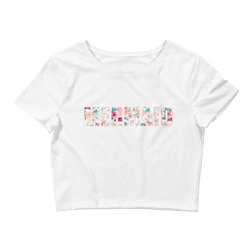 Playa Mermaid Women's Crop Tee