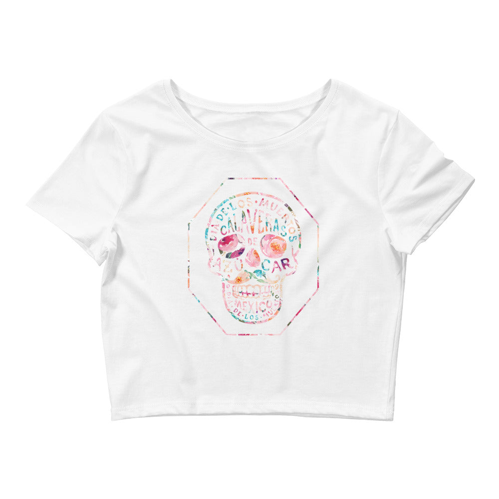 Playa Mexico Calavera Women's Crop Tee