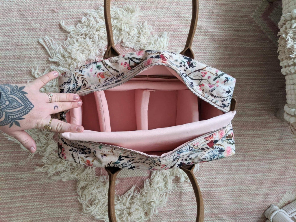 "SALE- Weekender ""Countryside"" Bag- Blush Fable"