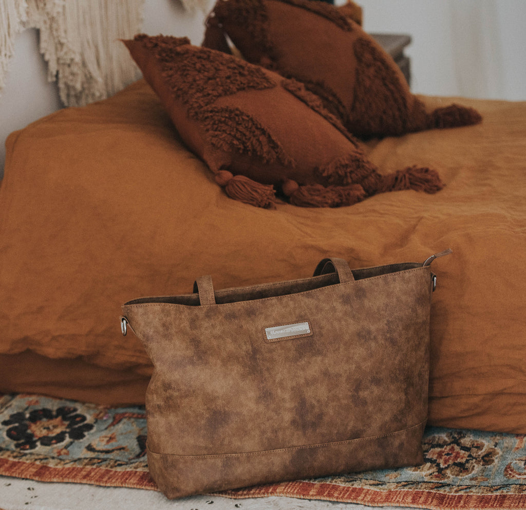 Presale- NEW-  Autumn Cinnamon-The Roam and Rise Carryall