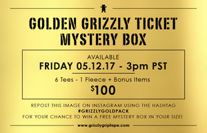 Grizzly Golden Ticket Mystery Boxes Are Back Friday 5/12