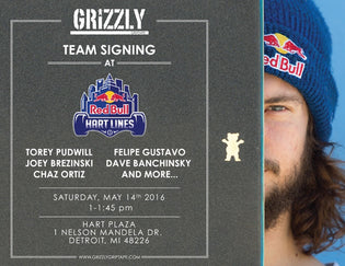 Grizzly Team Signing at Red Bull Hart lines Contest in Detroit