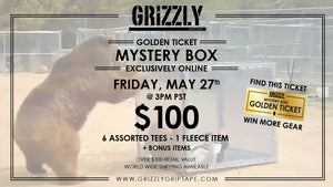 Grizzly T-shirt Mystery Box is Back This Friday 5-27 at 3pm PST!