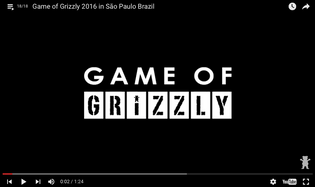 Game of Grizzly 2016 in São Paulo Brazil