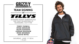 Grizzly Team Signing This Saturday at Tillys Glendora