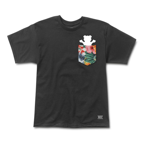 Botanical Pocket Tee Black