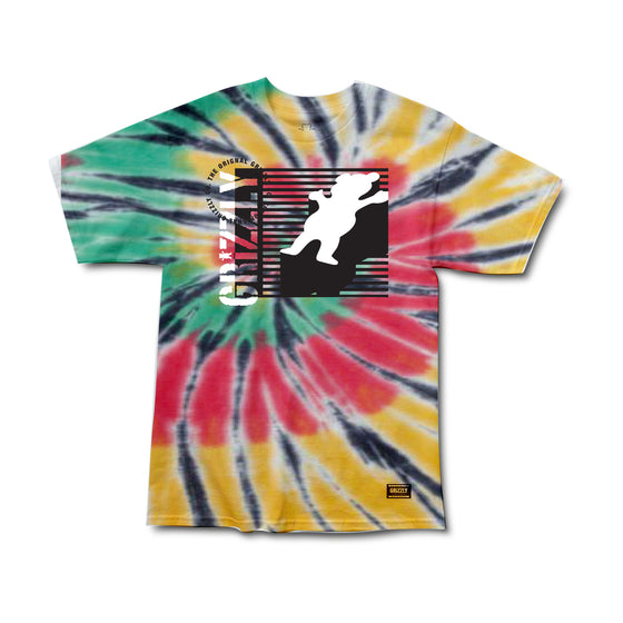 Lined Up Tee Tie Dye