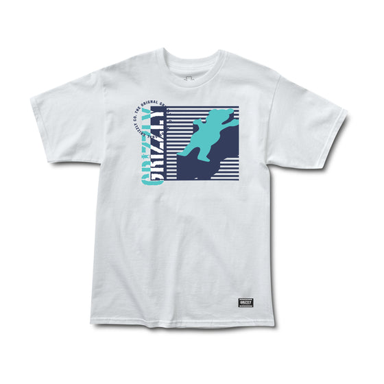 Lined Up Tee White