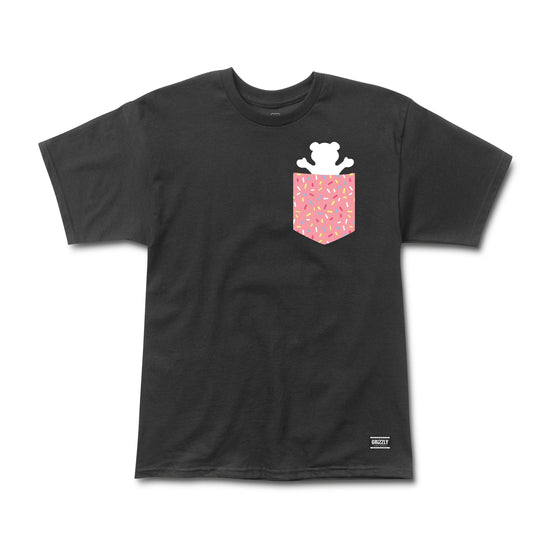 Sprinkles Pocket Bear Tee Black