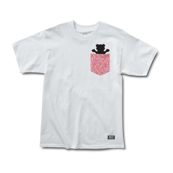 Sprinkles Pocket Bear Tee White