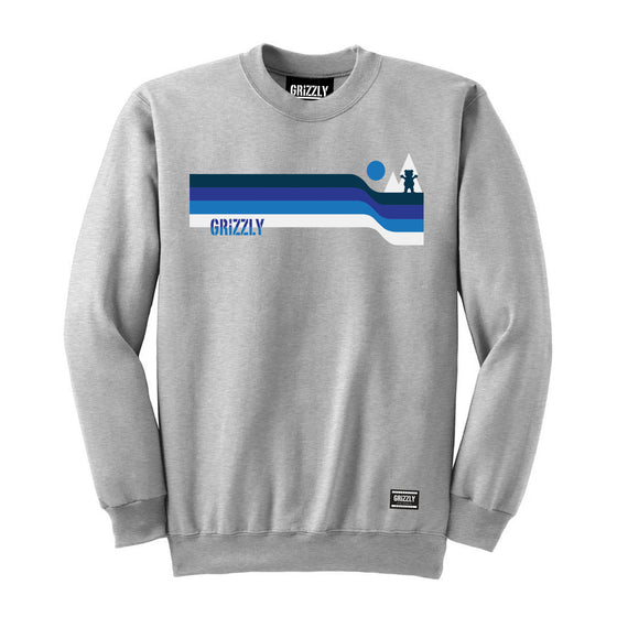 Retro Lines Crewneck Heather Grey