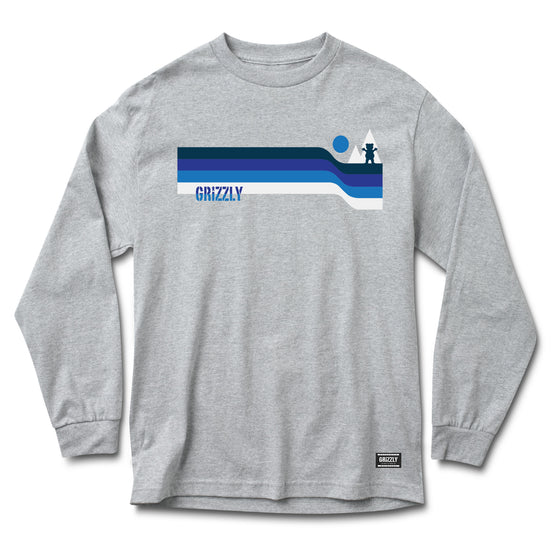 Retro Lines Longsleeve Tee Heather Grey