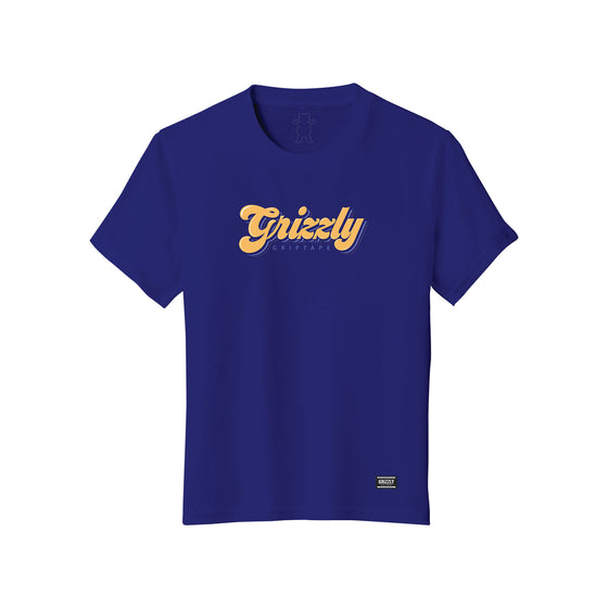 Disco Script Youth T-Shirt Royal