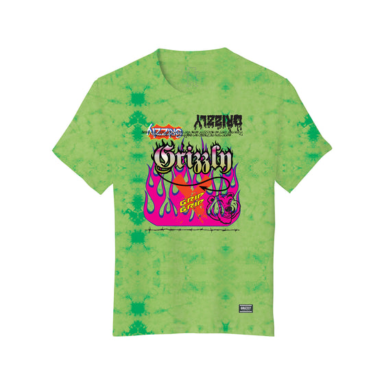 Fire Flame Youth T-Shirt Tie-Dye