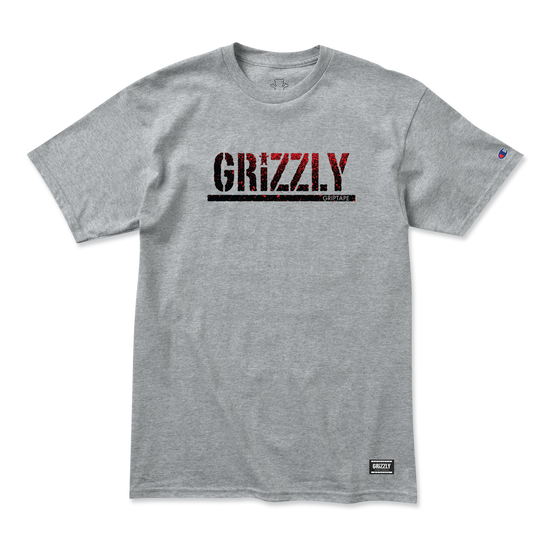 Stamp Fadeaway Champion T-Shirt Heather Grey