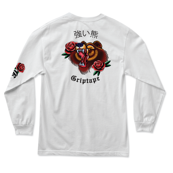 Flash Art Long Sleeve White