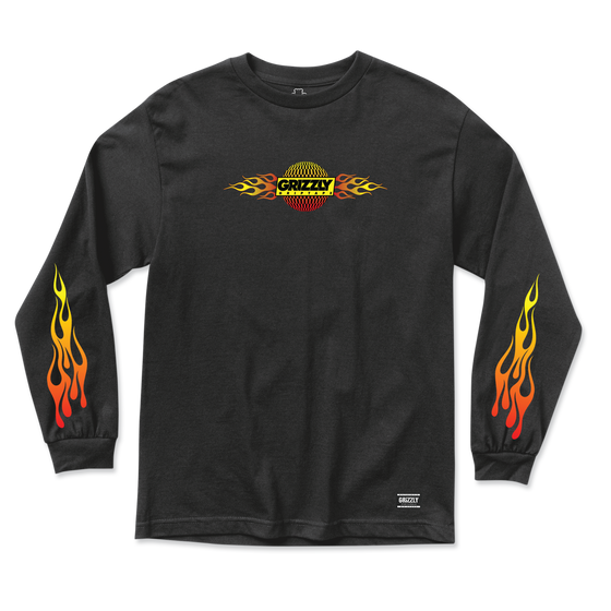Flame Thrower Long Sleeve Black
