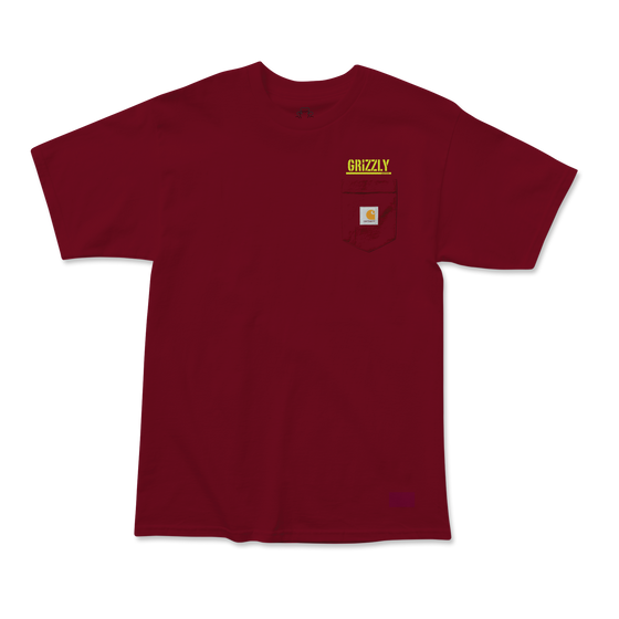 Stamp Work Carhartt T-Shirt Burgundy