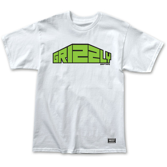 Gripped Perspective Tee  White