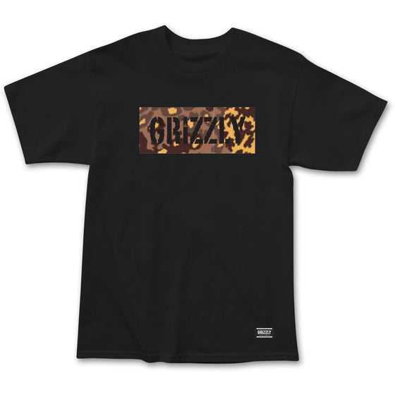 Camo Stamp Box Logo Tee Black