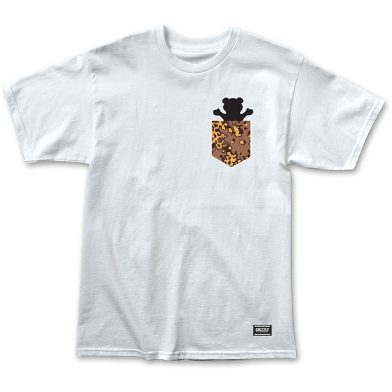 Camo Pocket Bear Tee White