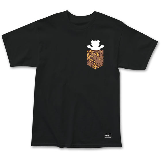 Camo Pocket Bear Tee Black