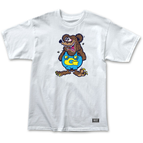 Grizzly The Bear Tee White