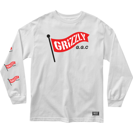 Flag Pole L/S Tee White