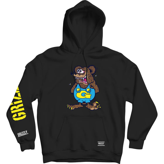 Grizzly The Bear Hoodie Black