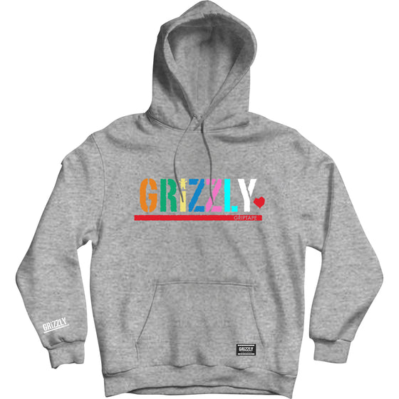 Color Block Youth Hoodie Heather Grey