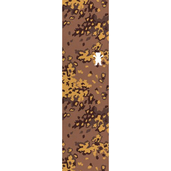 Camo Bear Cutout Griptape Sheet  Brown/ Mustard Camo