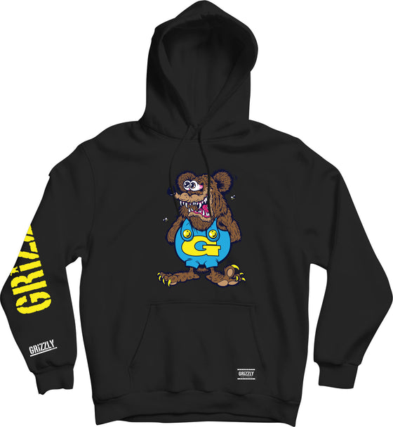 Grizzly The Bear Youth Hoodie Black