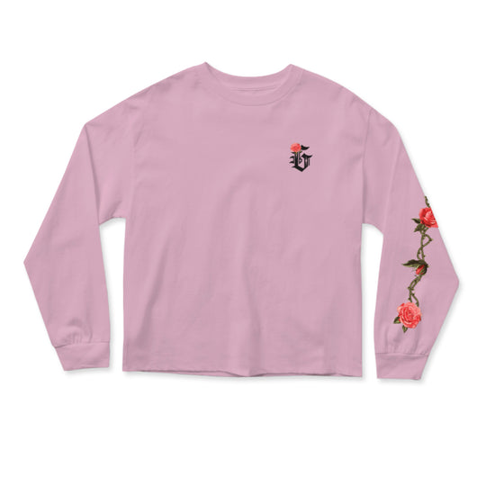 G-Rose Cropped Longsleeve Pink
