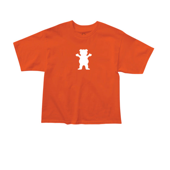 OG Bear Cropped Shirt Orange/White