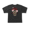 Skull Shroom Cropped Shirt Black