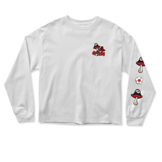 G-Rose Cropped Longsleeve White
