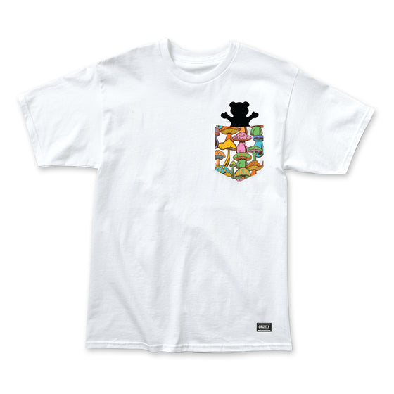 Fungi Pocket Bear T-Shirt White