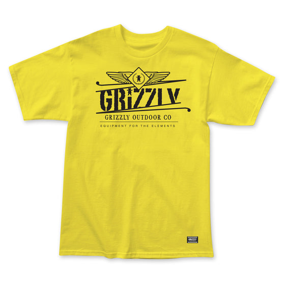 Outdoor Equipment T-Shirt Yellow
