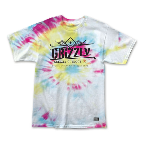 Outdoor Equipment T-Shirt Tie-Dye