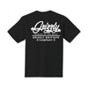 Caution Script T-Shirt Black