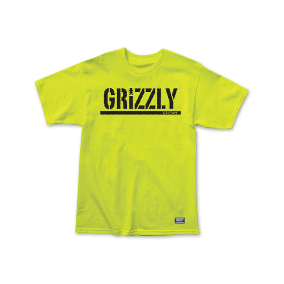 Grizzly Stamp Summer 20 T-Shirt Safety Green