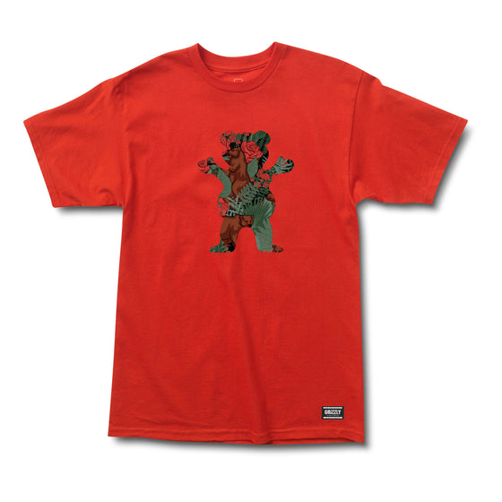 Rose Garden Bear SS Tee Red