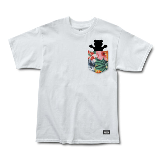 Botanical Pocket Tee White