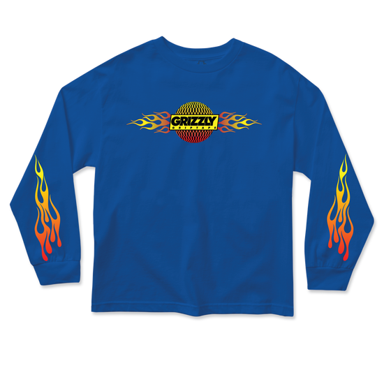 Flame Thrower Youth Longsleeve Blue