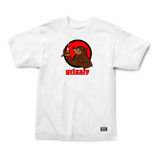 Bear Blunt T-Shirt White