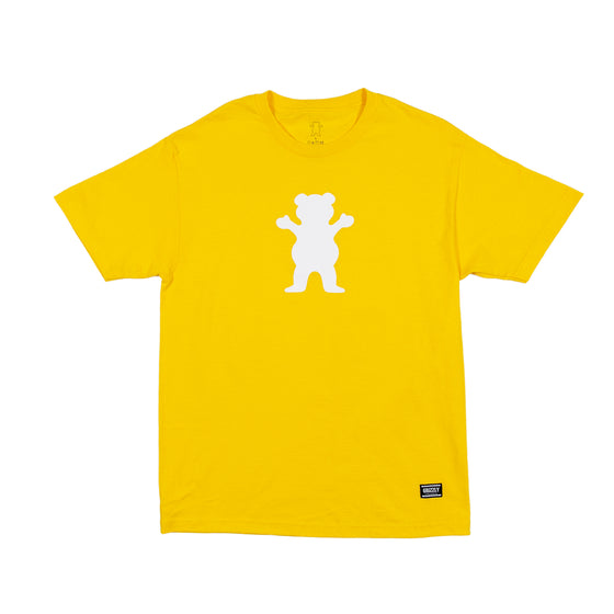 OG Bear S/S YELLOW/ WHITE