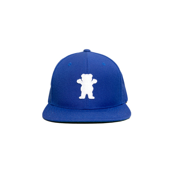 OG Bear Snapback  Royal / White