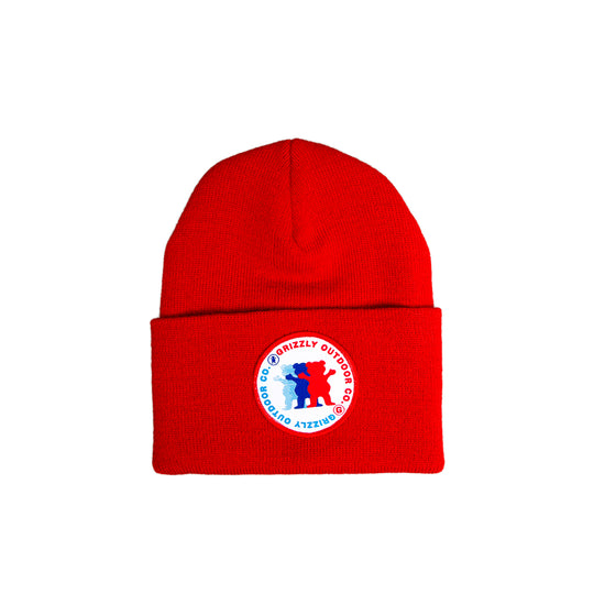 Faceoff Beanie  Red