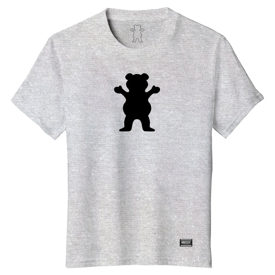 OG Bear Youth Tee Heather Grey / Black
