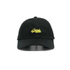 Caution Script Dad Hat - Black